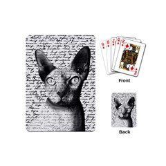 Sphynx Cat Playing Cards (mini)  by Valentinaart