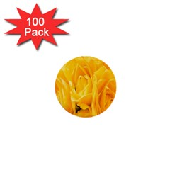 Yellow Neon Flowers 1  Mini Buttons (100 Pack)