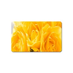 Yellow Neon Flowers Magnet (name Card) by Simbadda
