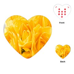 Yellow Neon Flowers Playing Cards (heart)  by Simbadda