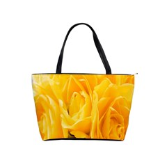 Yellow Neon Flowers Shoulder Handbags by Simbadda