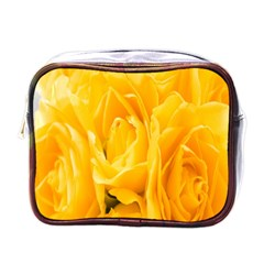 Yellow Neon Flowers Mini Toiletries Bags by Simbadda