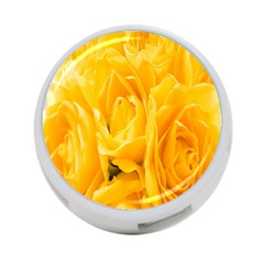 Yellow Neon Flowers 4 Port Usb Hub (two Sides)  by Simbadda