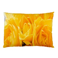 Yellow Neon Flowers Pillow Case (two Sides) by Simbadda