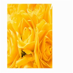 Yellow Neon Flowers Large Garden Flag (two Sides)