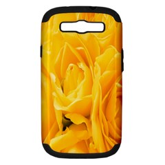 Yellow Neon Flowers Samsung Galaxy S Iii Hardshell Case (pc+silicone)