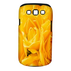 Yellow Neon Flowers Samsung Galaxy S Iii Classic Hardshell Case (pc+silicone) by Simbadda