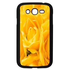 Yellow Neon Flowers Samsung Galaxy Grand Duos I9082 Case (black) by Simbadda