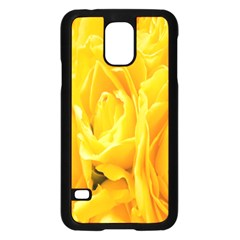 Yellow Neon Flowers Samsung Galaxy S5 Case (black) by Simbadda