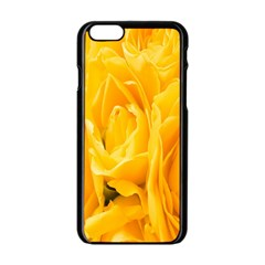 Yellow Neon Flowers Apple Iphone 6/6s Black Enamel Case by Simbadda