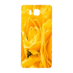 Yellow Neon Flowers Samsung Galaxy Alpha Hardshell Back Case by Simbadda
