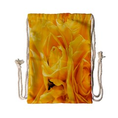 Yellow Neon Flowers Drawstring Bag (small) by Simbadda