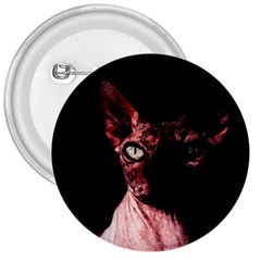 Sphynx Cat 3  Buttons by Valentinaart