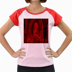 Tunnel Red Black Light Women s Cap Sleeve T Shirt by Simbadda