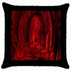 Tunnel Red Black Light Throw Pillow Case (black) by Simbadda
