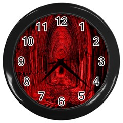 Tunnel Red Black Light Wall Clocks (black) by Simbadda