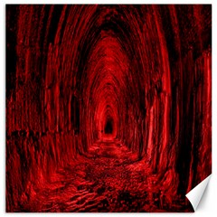 Tunnel Red Black Light Canvas 16  X 16   by Simbadda