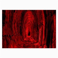 Tunnel Red Black Light Large Glasses Cloth (2 Side) by Simbadda