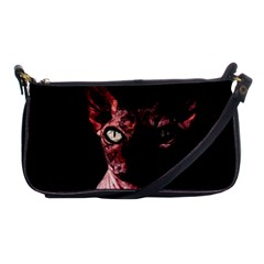 Sphynx Cat Shoulder Clutch Bags by Valentinaart