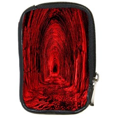 Tunnel Red Black Light Compact Camera Cases by Simbadda