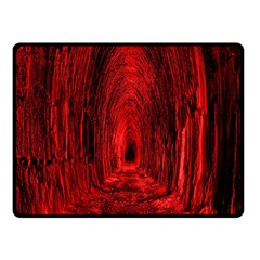 Tunnel Red Black Light Fleece Blanket (small) by Simbadda