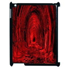 Tunnel Red Black Light Apple Ipad 2 Case (black) by Simbadda