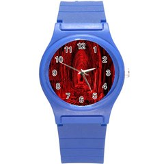 Tunnel Red Black Light Round Plastic Sport Watch (s) by Simbadda
