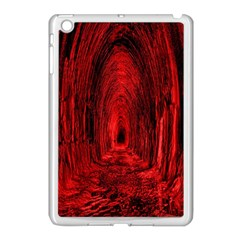 Tunnel Red Black Light Apple Ipad Mini Case (white) by Simbadda