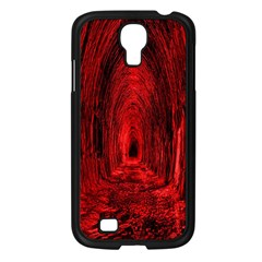 Tunnel Red Black Light Samsung Galaxy S4 I9500/ I9505 Case (black) by Simbadda