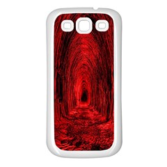 Tunnel Red Black Light Samsung Galaxy S3 Back Case (white) by Simbadda