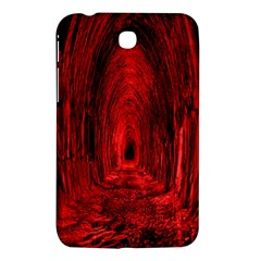 Tunnel Red Black Light Samsung Galaxy Tab 3 (7 ) P3200 Hardshell Case  by Simbadda