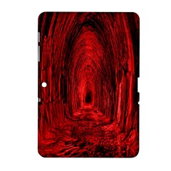 Tunnel Red Black Light Samsung Galaxy Tab 2 (10 1 ) P5100 Hardshell Case  by Simbadda