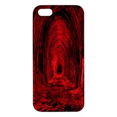 Tunnel Red Black Light Iphone 5s/ Se Premium Hardshell Case