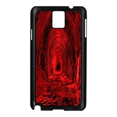 Tunnel Red Black Light Samsung Galaxy Note 3 N9005 Case (black) by Simbadda
