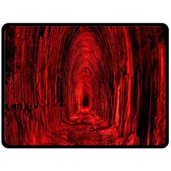 Tunnel Red Black Light Double Sided Fleece Blanket (large)  by Simbadda