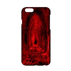 Tunnel Red Black Light Apple Iphone 6/6s Hardshell Case by Simbadda