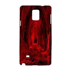 Tunnel Red Black Light Samsung Galaxy Note 4 Hardshell Case by Simbadda