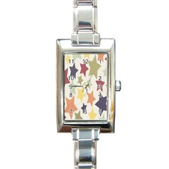 Star Colorful Surface Rectangle Italian Charm Watch by Simbadda