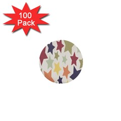 Star Colorful Surface 1  Mini Buttons (100 Pack)
