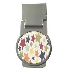 Star Colorful Surface Money Clips (round)  by Simbadda