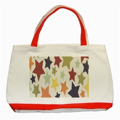 Star Colorful Surface Classic Tote Bag (red) by Simbadda