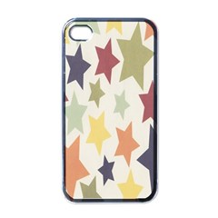 Star Colorful Surface Apple Iphone 4 Case (black)