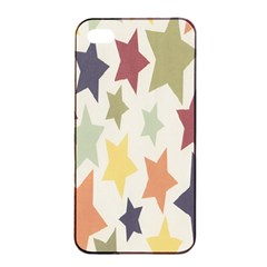 Star Colorful Surface Apple Iphone 4/4s Seamless Case (black) by Simbadda
