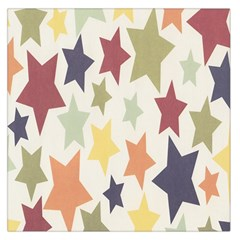 Star Colorful Surface Large Satin Scarf (square)