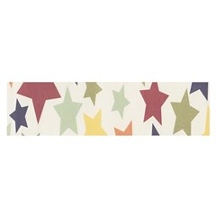 Star Colorful Surface Satin Scarf (oblong)