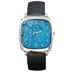 Surface Grunge Scratches Old Square Metal Watch by Simbadda