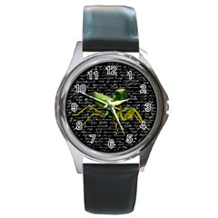 Mantis Round Metal Watch by Valentinaart