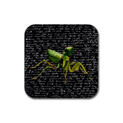 Mantis Rubber Coaster (square)  by Valentinaart