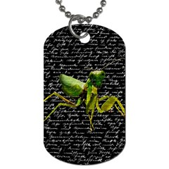 Mantis Dog Tag (one Side) by Valentinaart