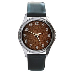 Texture Background Rust Surface Shape Round Metal Watch by Simbadda